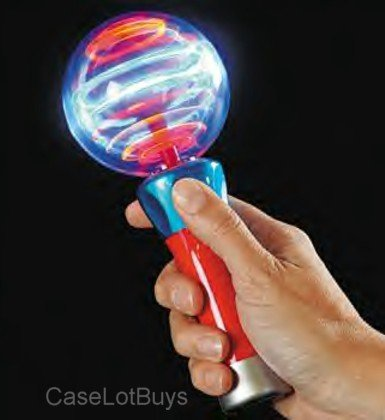 RI Novelty LED Spinning Light Party Disco Wand - 1