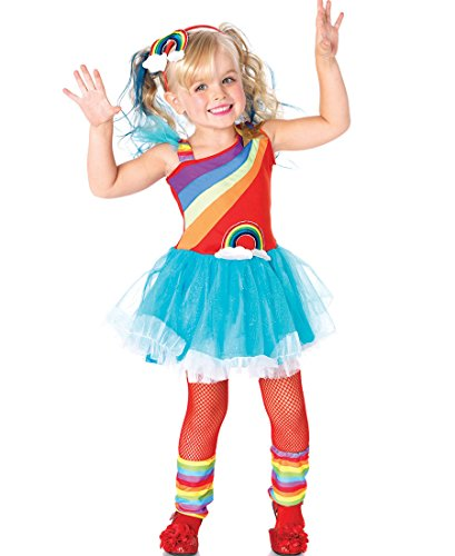 Rainbow Toddler Bright Costume (Rainbow Doll Toddler Costume -)