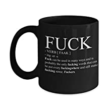 Best funny gift - 11OZ Coffee Mug - The F word and verb definition - Perfect cup for birthday, men, women, present for him, her, sister, brother, wife, husband or friend.