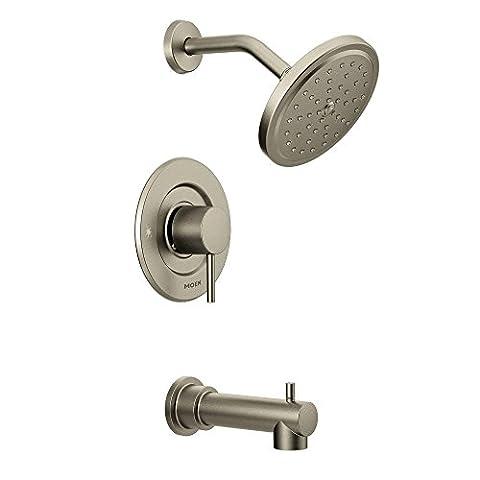 Moen T3293BN Align Tub and Shower Faucet Body Set without Moen's Moentrol Shower Valve, Brushed
