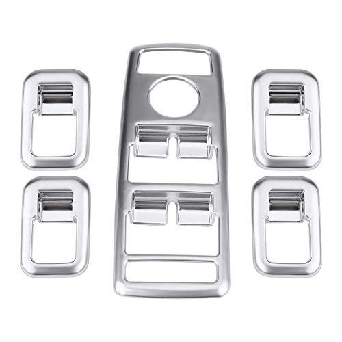 Cuque 5 Pcs ABS Plastic Car Door Window Switch Panel Cover Frame Trim Button Decoration Chrome for Mercedes Benz W176 2013 B C E GLS GLK GL ML GLA