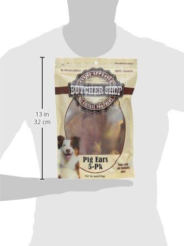 Butcher Shop 100% Pig Ears (5 Pack), 114 g by Butcher Shop (Image #3)