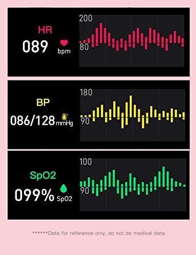 RRLOM Smart Watch Blood Pressure Monitor, Heart Monitor Smart Watch, Temperature Scanner, IP67 Waterproof, SpO2+ HR+ BP Monitor, Sports Fitness Tracker 41B EgxrnuL