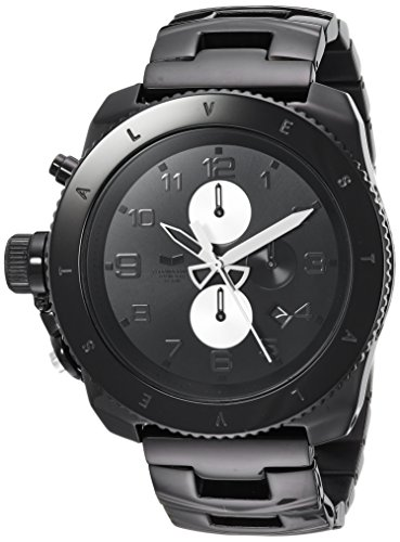Vestal Men's 'Restrictor' Quartz Stainless Steel Dress Watch, Color Black (Model: RES016)