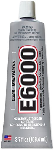 Clear Adhesive Dries Fabric (E6000 230012 Craft Adhesive - 3.7 fl. oz.)