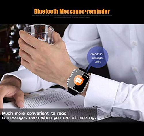 Call Pedometer Heart Rate Test Smart Watch For Android 4.2 and IOS - Multifunctional SMS Remind Waterproof Thermometer Barometer Watch