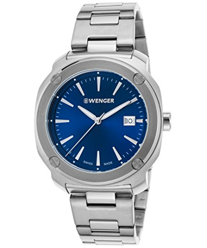 Wenger 01-1141-112 Men's Edge Index Stainless Steel Blue Dial Watch