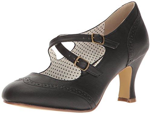 Pinup Couture Women's Flap35/Bpu Dress Pump - Black Faux ...