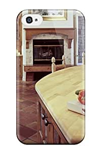 For FwMSMWJ590UKXLB Fireplace-centered Spopular Of Wood Kitchen Bar And Dining Room With Burnt Tile Floor Case Cover Skin/For Samsung Galaxy S5 Mini Case Cover