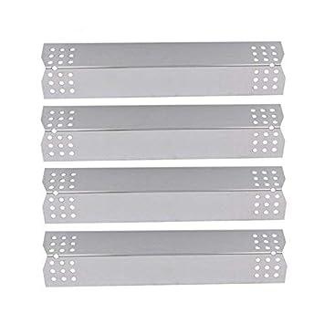 Bar.BQS 97371 (4 Pack) Reemplazo de la placa calefactora de acero inoxidable para las parrillas Campingaz, Landmann, Char-Broil y otros modelos