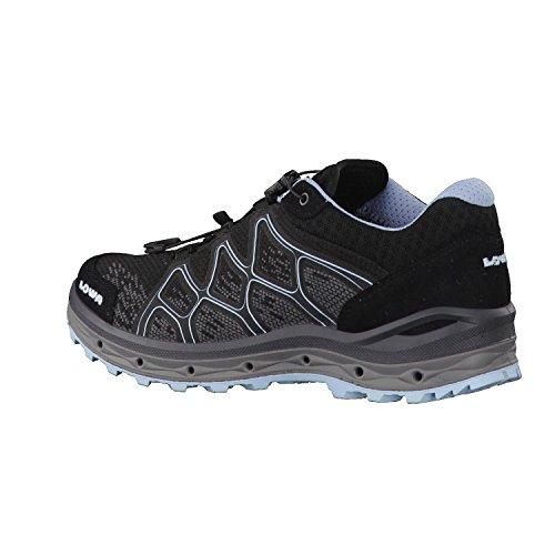 Iowa Women Aerox Gtx Ws Lo Trekking & Escursioni Stivali, Blu Nero / Ghiaccio, 4,5 Uk Nero Blu / Ghiaccio