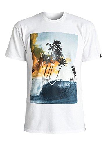 Quiksilver Men's Wave Thunder T-Shirt, White, L