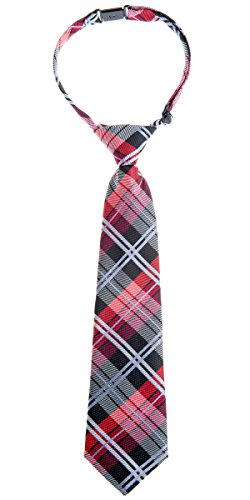 Retreez Elegant Tartan Plaid Check Woven Microfiber Pre-tied Boy's Tie - http://coolthings.us