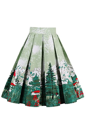 pour Jupes Les Midi Femmes lgant Vintage Dcollet Nimpansa Green1 XfSxZnqq