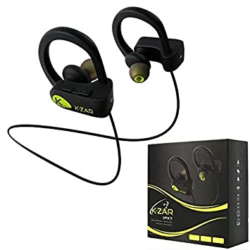 k-zar 200S Bluetooth auriculares, Sport auriculares, IPX7 resistente al agua inalámbrico auriculares