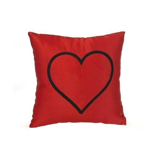 - Hortense B. Hewitt Heart Mini Throw Pillow, Red