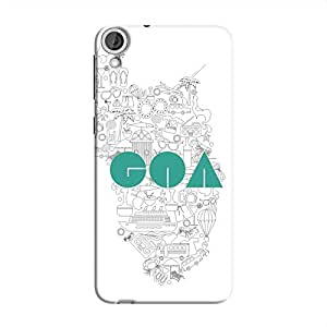 Cover It Up Goa Hard Case for HTC Desire 820 - White