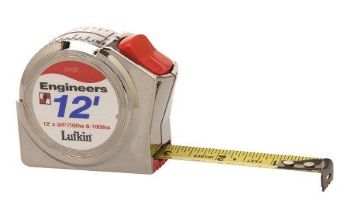 Lufkin 2312D 3/4-Inch by 12-Foot Engineer-Foot Series 2000 Power Return ()