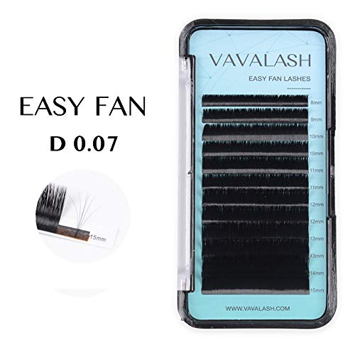 Eyelash Extension Supplies Rapid Volume Lash Extensions Easy Fan Automatic Blooming Flower Lashes Self Fanning Lashes Russian Volume Individual Lashes Mink Eyelash Extensions Salon Use(D-0.07,8-15MM)