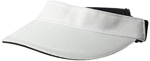 White Visors Bulk (Calvin Klein Women's Texture Knit Visor, Eggshell, One)