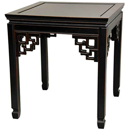 Black Oriental Coffee Table - ORIENTAL FURNITURE Rosewood Square Ming Table - Antique Black