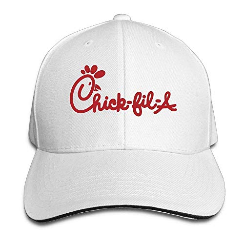 Bizwheo Men's Athletic Baseball Fitted Cap Hat Chick Fil Durable Baseball Cap Hats Adjustable Peaked Trucker Cap U759