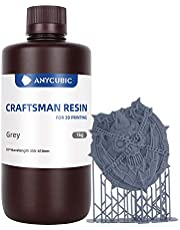 ANYCUBIC Wax Resin 3D Printer Rapid Resin, 355nm-410nm UV Cure Photosensitive Resin for SLA/LCD Printing Liquid, Photon Fast Curing,Jewelry Anime Figure Design, High Precision, 1kg Grey