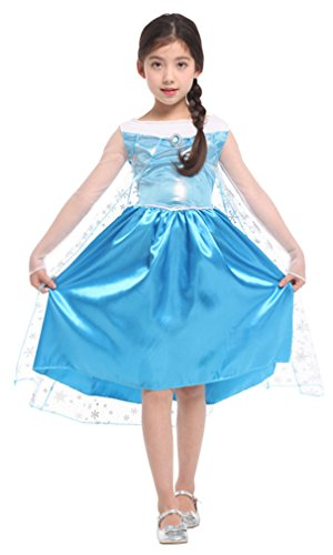 Spooktacular Girls' Ice Princess Ela Dress-Up Costume Set, M