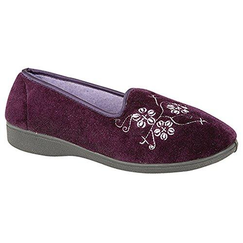 Ricamate Pantofole Donna Jenny Viola Zedzzz 8nx57S4xw
