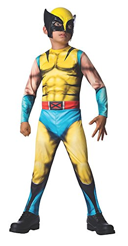 Wolverine Costumes Accessories - Rubies Marvel Universe Classic Collection Wolverine Costume, Child Small