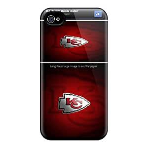 Iphone 4/4s ZNt18471hprs Support Personal Customs Vivid Kansas City Chiefs Skin Great Hard Cell-phone Case -Marycase88