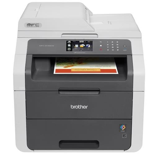 Brother MFC9130CW Wireless All-In-One Printer with Scanner, Copier and Fax, Amazon Dash Replenishment (Laser Mfc Machine)