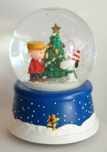 Musical Peanuts 50th Anniversary Snow Globe ()