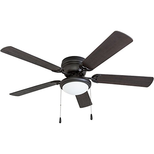 Portage Bay 50251 Hugger 52'' Matte Black West Hill Ceiling Fan with Bowl Light Kit by Portage Bay