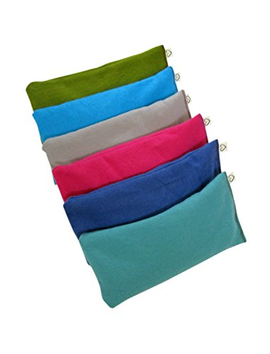 Peacegoods Unscented Organic Flax Seed Eye Pillow - Pack of (6) - Soft Cotton Flannel 4 x 8.5 - Pink Green Purple Gray Fuschia Aqua Turquoise Blue by Peacegoods (Image #6)
