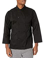 Chef Code Classic Men's 100% Premium Cotton Long Sleeve Chef Coat