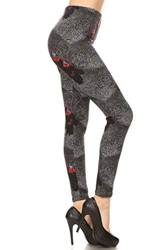(S687-OS Chicken Polka Dot Print Fashion Leggings)