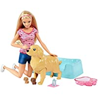 Barbie Newborn Pups Doll & Pets Playset, Blonde