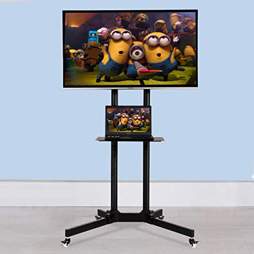 Tangkula TV Cart Mobile Plasma LCD LED Flat Screen Panel Fits 30