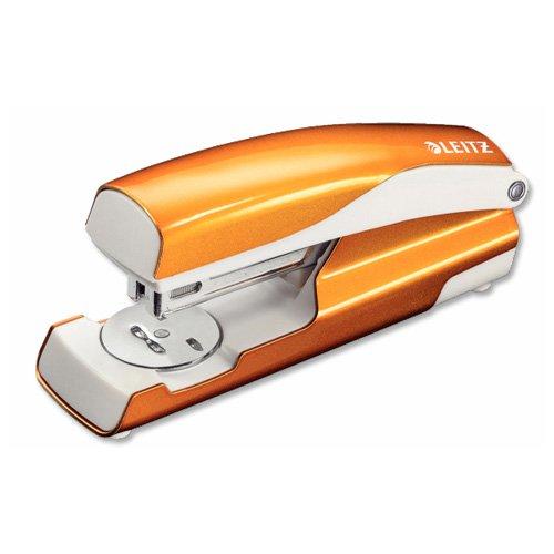 Leitz WOW Metal Stapler 30 Sheet Throat Depth 60mm Orange Ref 55022044