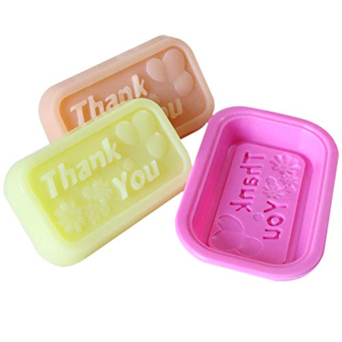 (Soap Shape - Silicone Quot Thank You Ice Cube Candy Chocolate Cake Cookie Cupcake Soap Molds Mould - Small Design Prime Rectangle Leaf Tall Shower Rock Rectangular Honeycomb Cream Tube S)