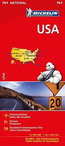 Michelin USA: Straßen- und Tourismuskarte 1:3.450.000 (MICHELIN Nationalkarten, Band 761) Landkarte – 2. März 2017 2067219146 Europa Europa / Landkarte Atlas