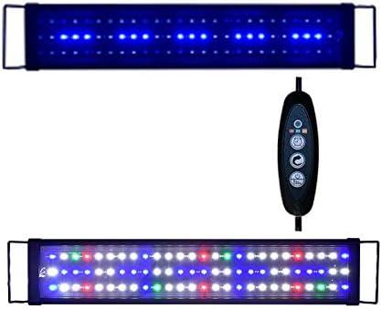 Sxspace 60 – 200 cm, iluminación para acuario, 5730SMD, espectro completo, para agua de mar, cubierta EU A149 (120 – 150 cm, 45 W, A149)
