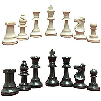 Amazoncom Heavy Tournament Triple Weighted Chess Pieces with 3 3