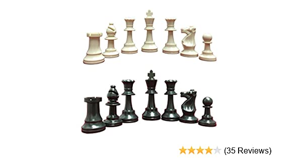 Full Set of 34 Green /& Yellow 4 Queens Staunton Single Weight Chess Pieces
