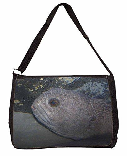 Ugly Fish Large 16 Black School Laptop Shoulder Bag