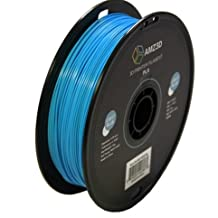1.75mm Light Blue PLA 3D Printer Filament - 1kg Spool (2.2 lbs) - Dimensional Accuracy +/- 0.03mm