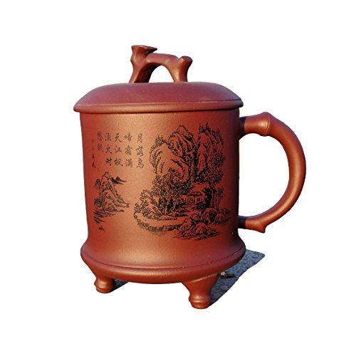 Yixing Teapot Handmade Maple Sunset Tea Cup,Nature Red Cl...