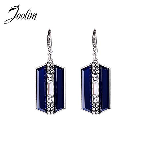- TTO Drop Earrings - Jewelry Wholesale/2017 Navy Pave Crystal Earring Vintage Retro Silver Dangle Earring Classic Earring 1 PCs