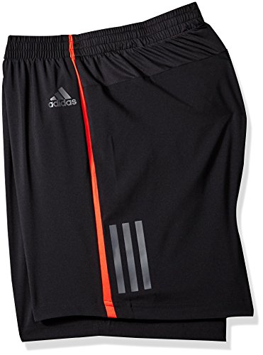 adidas Men's Running Response Shorts, Black/Hi-Res Red, XX-Large(5) by adidas (Image #2)